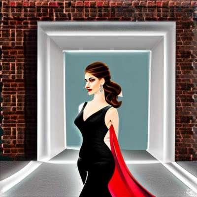 Оливиа Вилде, њена мала црна ретро хаљина
