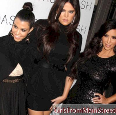Family photo: Kim Kardashian and her sisters, 3 hairstyles looks