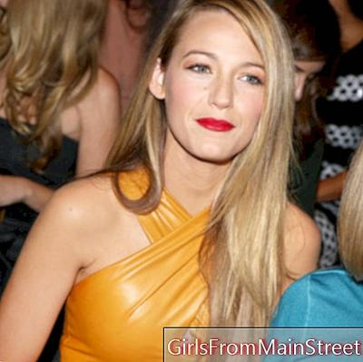 Blake Lively and her perfect blow-drying for Italian Fashion Week