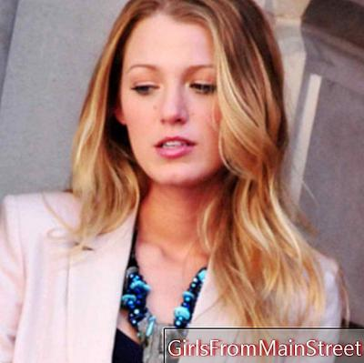 Het kapsel van de dag: Blake Lively op de set van Gossip Girl in New York