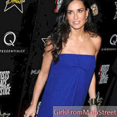 Demi Moore, her secret beauty for firm and tonic arms