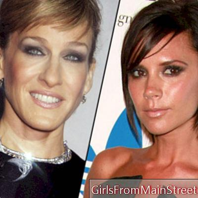 Victoria Beckham και Sarah Jessica Parker ανεμιστήρες μακιγιάζ Burberry