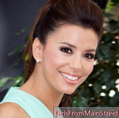 Eva Longoria and her hull ponytail at the Monte Carlo Festival