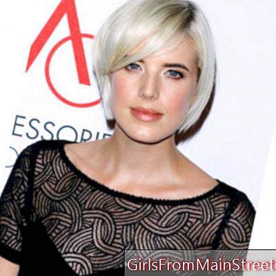 Зачіска дня: Agyness Deyn, платинова блондинка assagie з її коротким квадрат