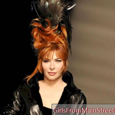 Mylène Farmer: her crazy hairstyle at the Jean Paul Gaultier show