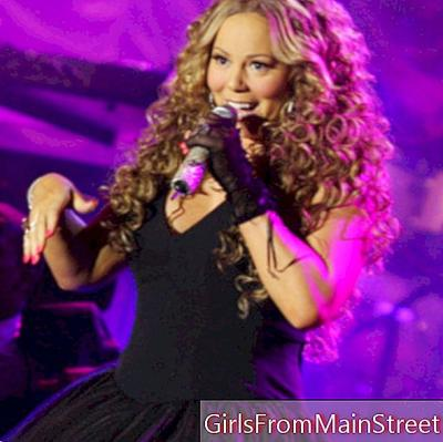 Watch the silhouette and hair of Mariah Carey at her last concert!