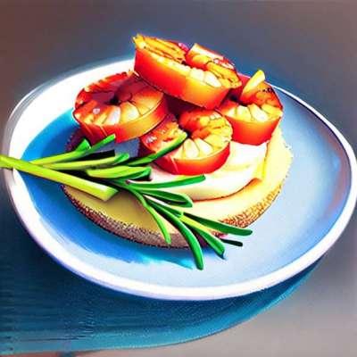 Kentang mashed dengan truffle dan udang