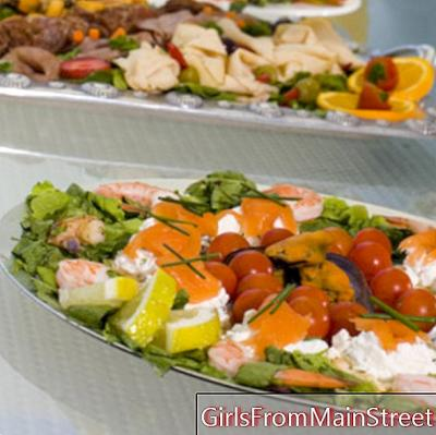 Organize a reception buffet