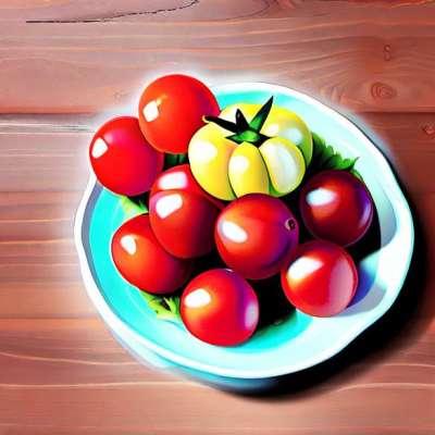 Surprise tomato, Comté cheese ratatouille and tapenade balsamic vinaigrette