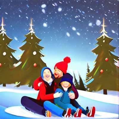Kinder im Schnee: die Meinung eines Vereinsführers