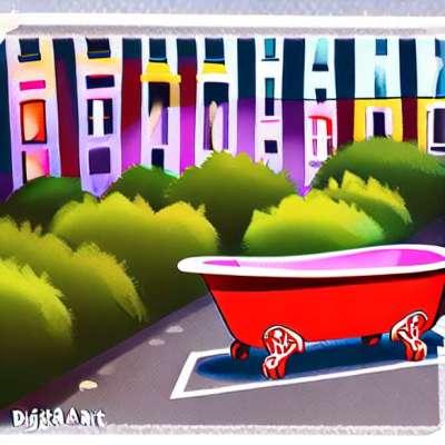 Kinder: eine Badewanne, damit das Bad ein privilegierter Moment bleibt