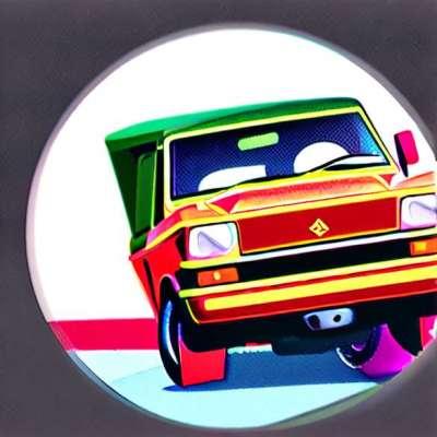 Das Spiel Mille Bornes mit den Farben von Cars 2