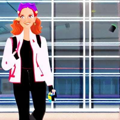 Lihat hari: Heidi Klum bertaruh hitam di lapangan terbang NY