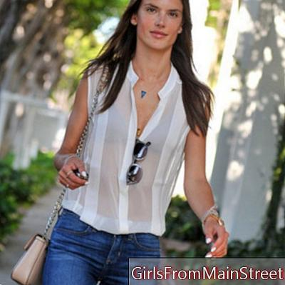 Alessandra Ambrosio, classic chic on the streets of Los Angeles