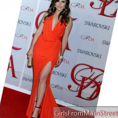 Sophia Bush in low-cut dress and slit at CFDA Fashion Awards