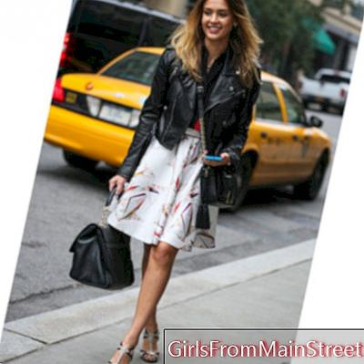 Jessica Alba, New York styl v dokonalé a trapézové sukni