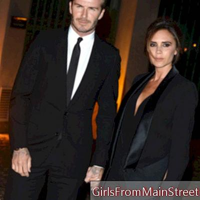 Ką Victoria Beckham dėvėjo savo pirmąją dieną su Davidu Beckemu?