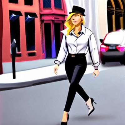 Look del día: Emma Watson ultra chic en las calles de Nueva York.