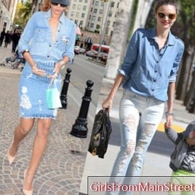Režim zápasu: Miranda Kerr vs. Rihanna v all-denim