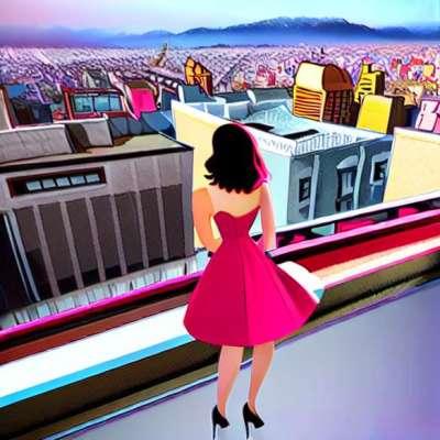Jessica Biel in romantic dress Christian Cota