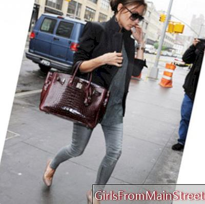 Carrying her bag like Victoria Beckham would be dangerous for health