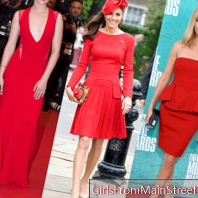 Kate Middleton, Kristen Stewart, Charlize Theron, a red dress or nothing!