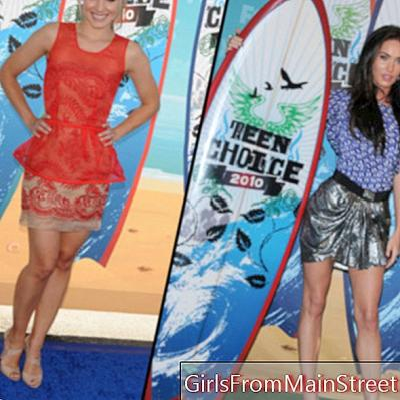 Viršų flop specialūs paauglių apdovanojimai: Megan Fox Vs. Kristen Bell