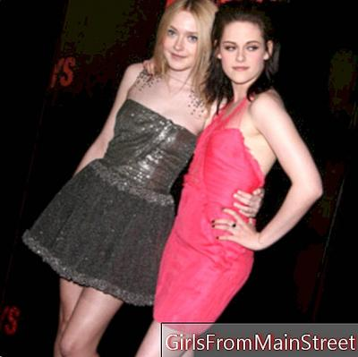 Duel glamor between Kristen Stewart and Dakota Fanning at the premiere of The Runaways