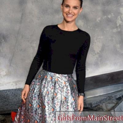 Look of the day: Natalie Portman, queen of divine ball in Christian Dior in London