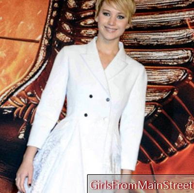 Look of the day: Jennifer Lawrence, radiant in her coat dress in Berlin