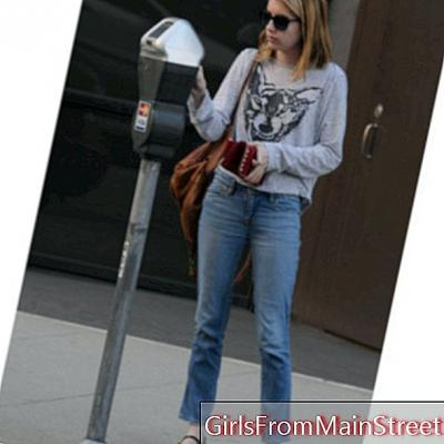 Günün bakışı: Emma Roberts havalı kolej tarzı