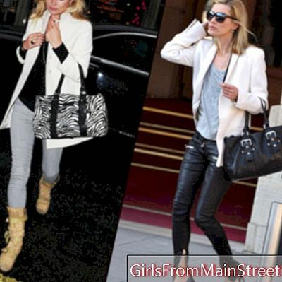 Kate Moss, δεν αφήνει την τσάντα Longchamp