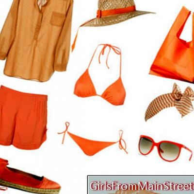Sommermode: Orange am Strand