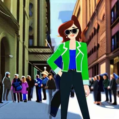 Rihanna, im Blazerkleid Stella McCartney ausgezogen