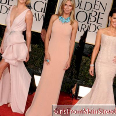 Golden Globes: Pastel Charlize Theron, Kate Beckinsale e Heidi Klum