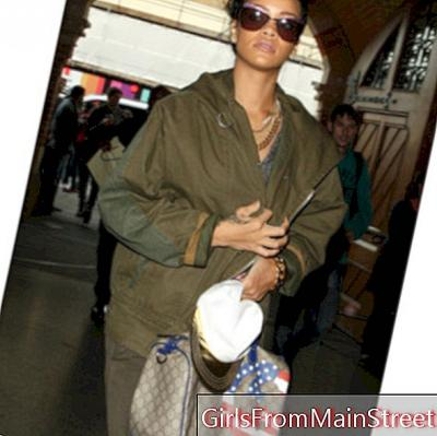 Fashion flop of the day: Rihanna, military in toc