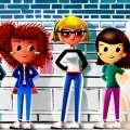 Gaya rambut Sex and the City: Sarah Jessica Parker, Cynthia Nixon dan Kristin Davis di atas