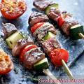 Cheap cooking in August: kebabs