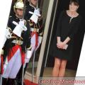 Carla Bruni: hendes lille gravide sorte kjole