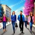 Jessica Alba: Dabartiniai / Elliot spausdinti džinsai, jos mados fiksatas